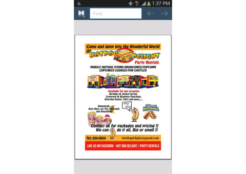 Hotdog Delight Party Rentals