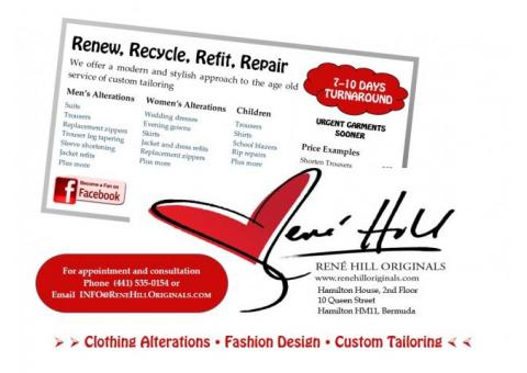 Rene Hill Originals Tailoring & Design Studio